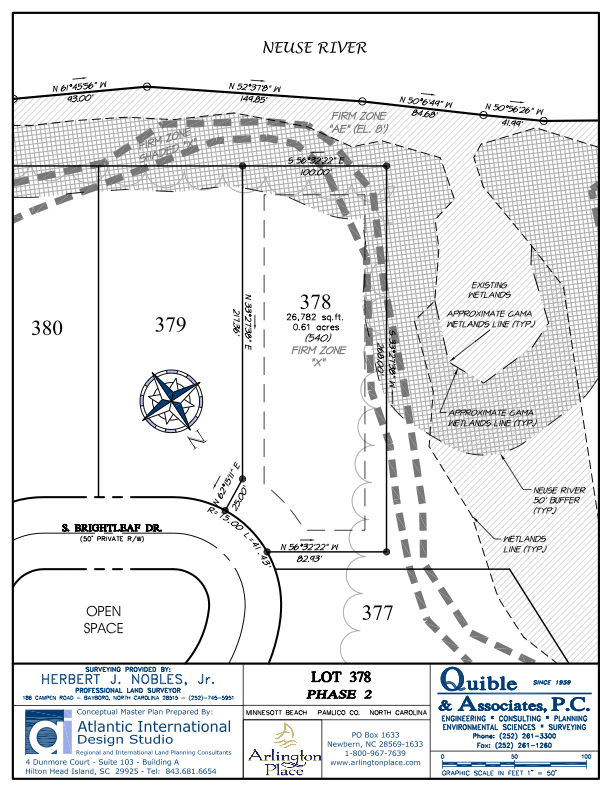 Arlington Place Homesite 378 property plat map image.