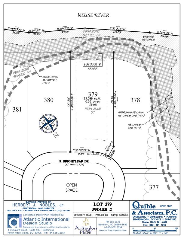 Arlington Place Homesite 379 property plat map image.