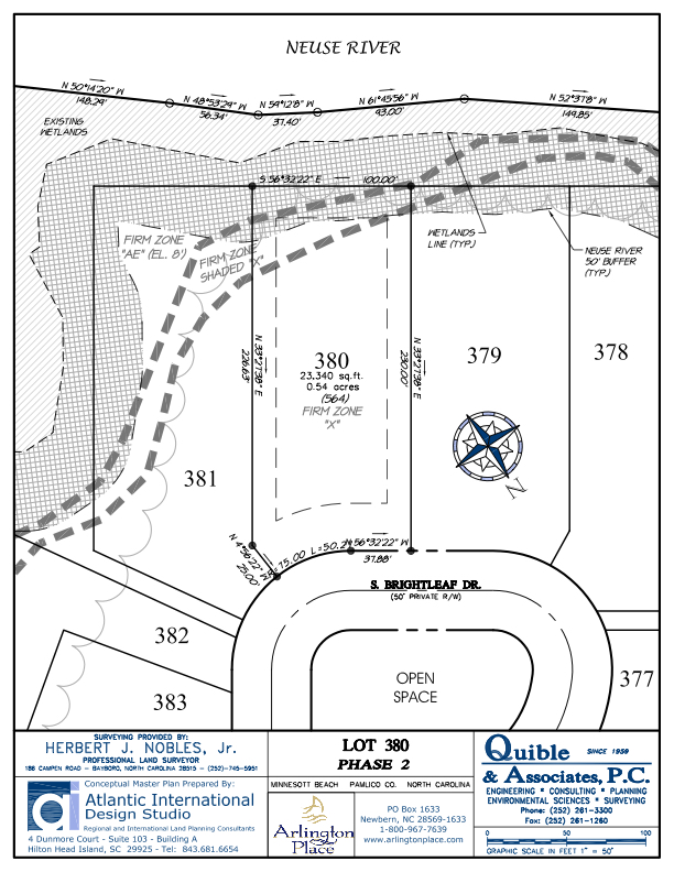 Arlington Place Homesite 380 property plat map image.