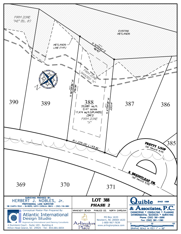 Arlington Place Homesite 388 property plat map image.