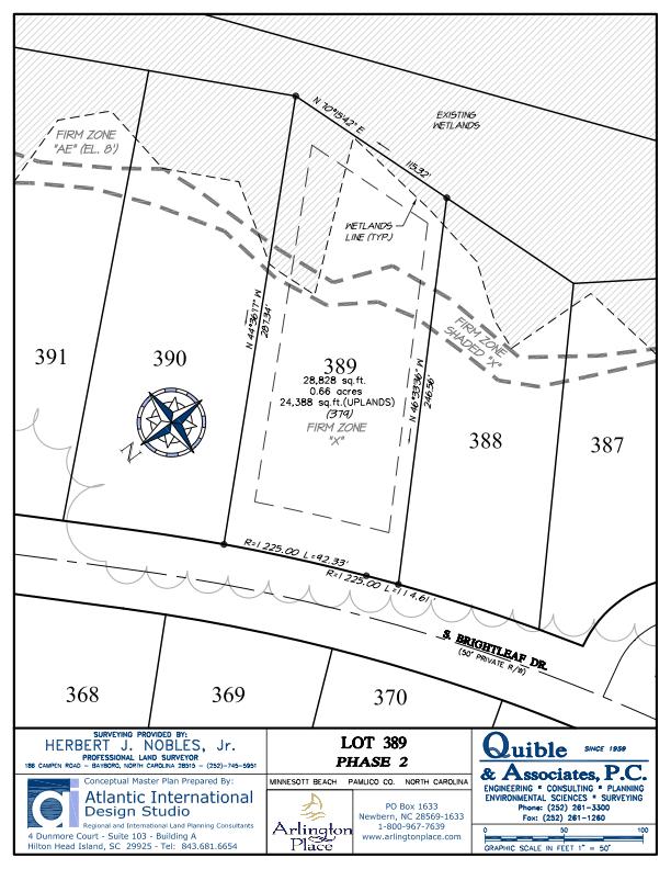 Arlington Place Homesite 389 property plat map image.