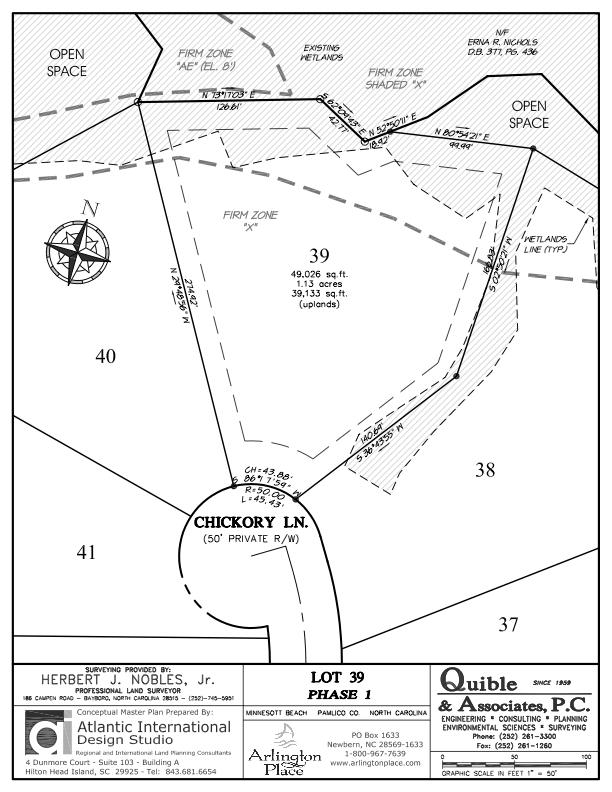 Arlington Place Homesite 39 property plat map image.