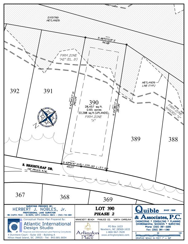 Arlington Place Homesite 390 property plat map image.