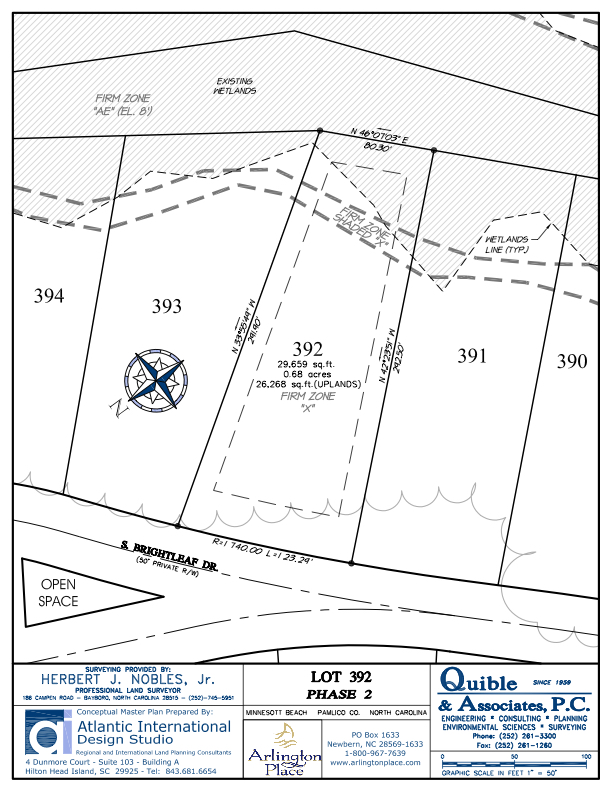 Arlington Place Homesite 392 property plat map image.