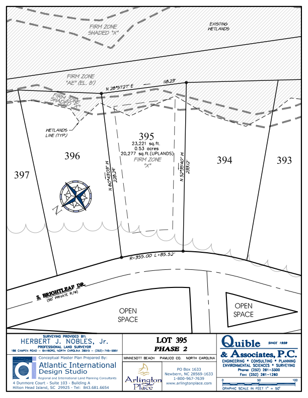Arlington Place Homesite 395 property plat map image.