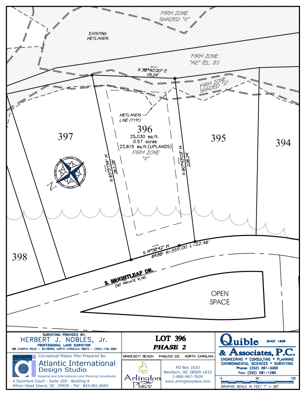 Arlington Place Homesite 396 property plat map image.