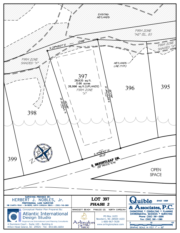 Arlington Place Homesite 397 property plat map image.