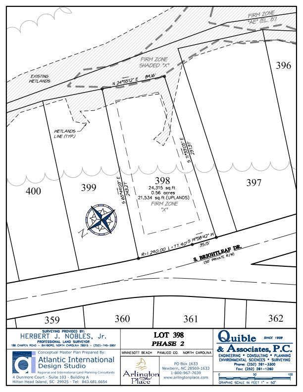 Arlington Place Homesite 398 property plat map image.