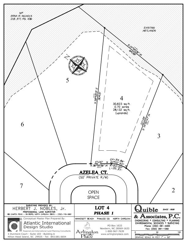 Arlington Place Homesite 4 property plat map image.