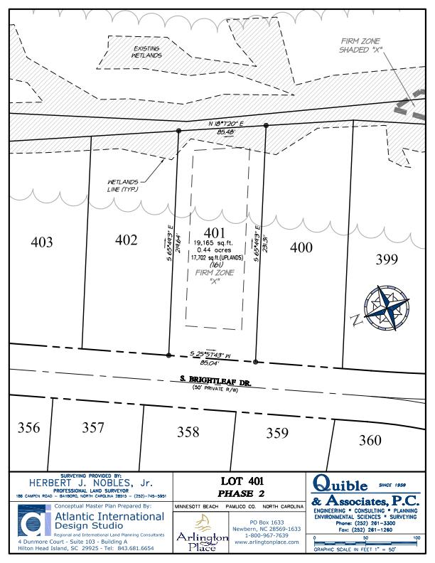 Arlington Place Homesite 401 property plat map image.