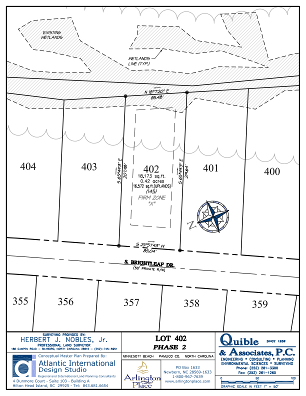Arlington Place Homesite 402 property plat map image.