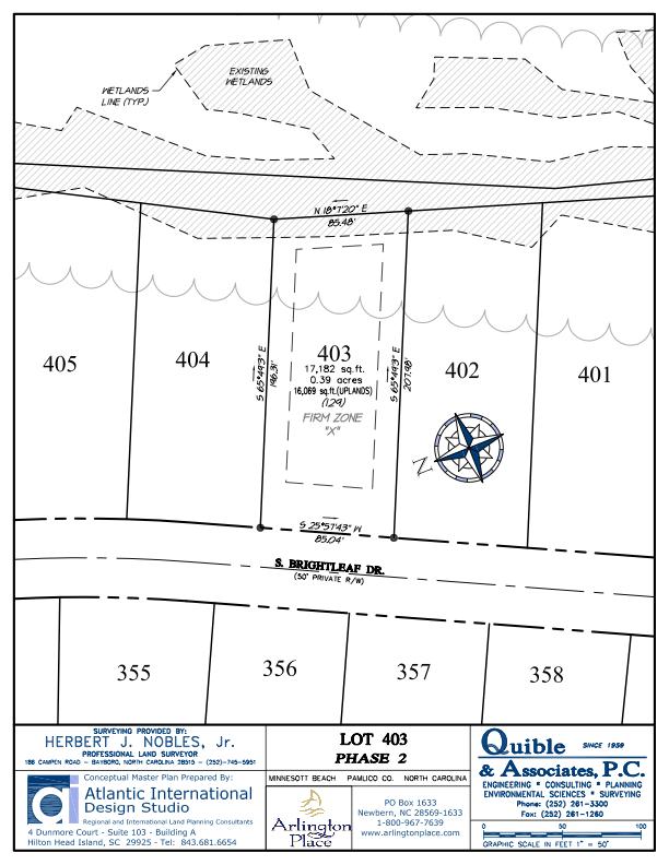 Arlington Place Homesite 403 property plat map image.