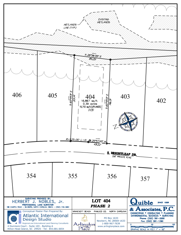 Arlington Place Homesite 404 property plat map image.