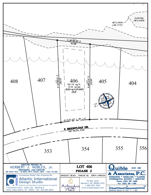 Arlington Place Homesite 406 property plat map image.