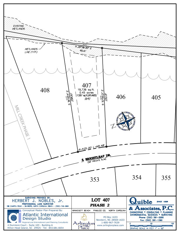 Arlington Place Homesite 407 property plat map image.
