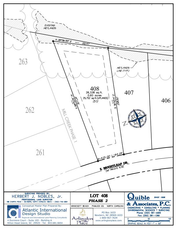 Arlington Place Homesite 408 property plat map image.