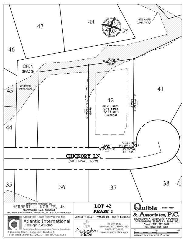 Arlington Place Homesite 42 property plat map image.