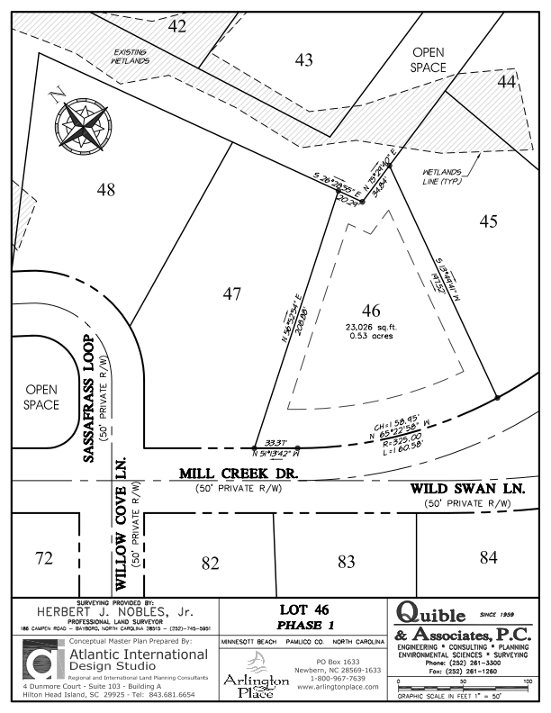 Arlington Place Homesite 46 property plat map image.