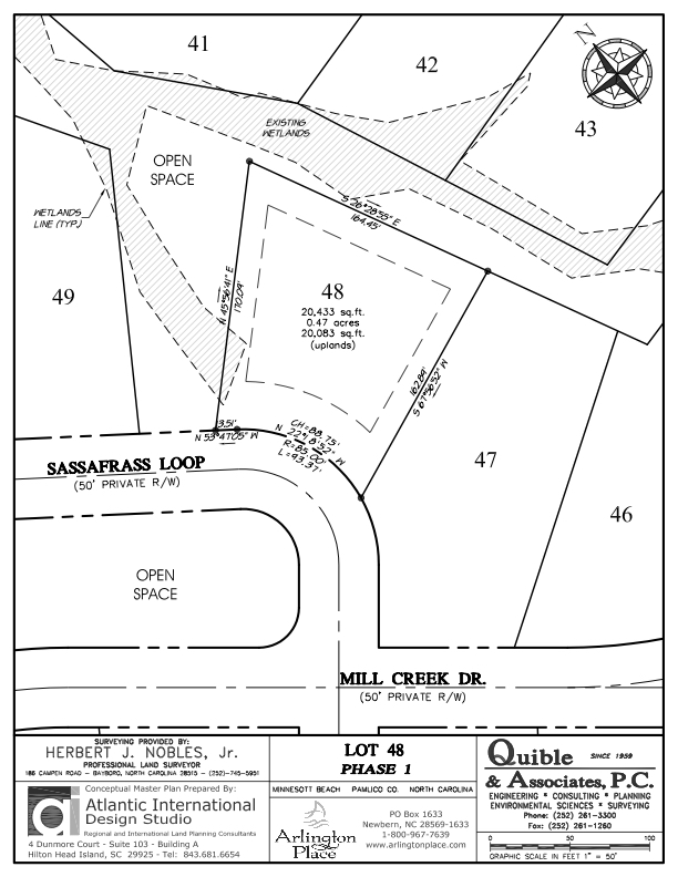 Arlington Place Homesite 48 property plat map image.