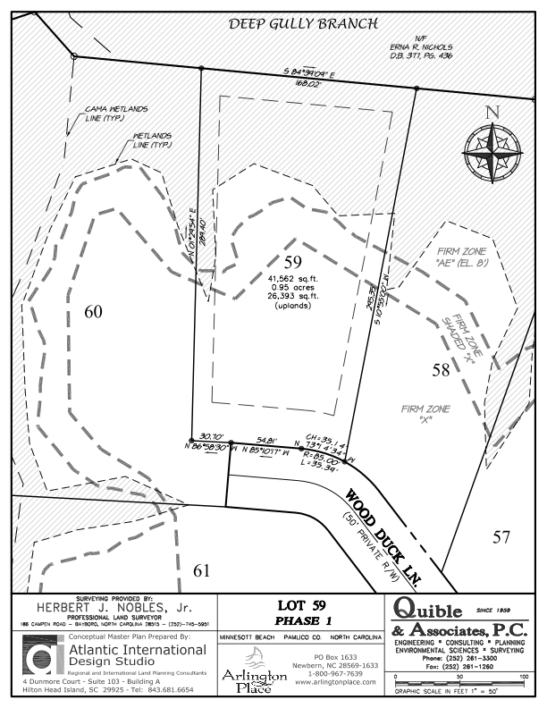 Arlington Place Homesite 59 property plat map image.
