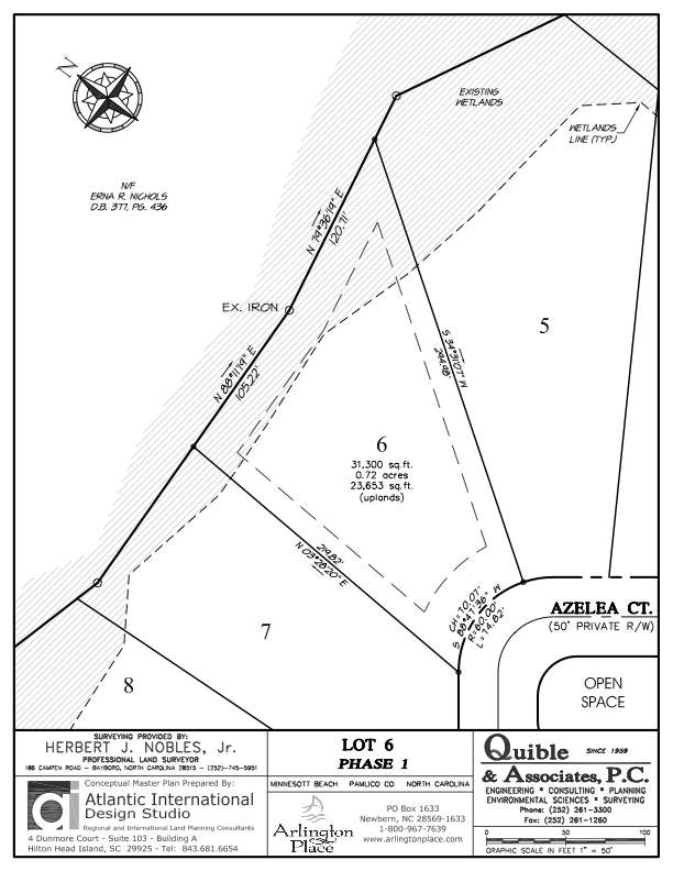 Arlington Place Homesite 6 property plat map image.