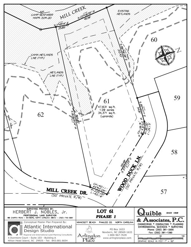 Arlington Place Homesite 61 property plat map image.