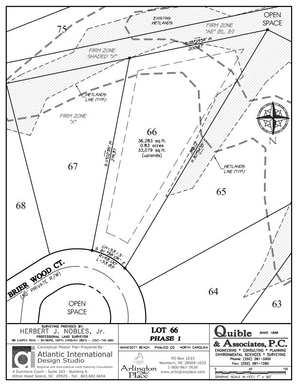 Arlington Place Homesite 66 property plat map image.
