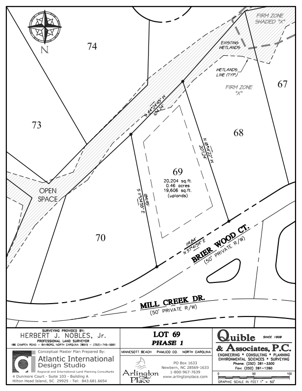 Arlington Place Homesite 69 property plat map image.