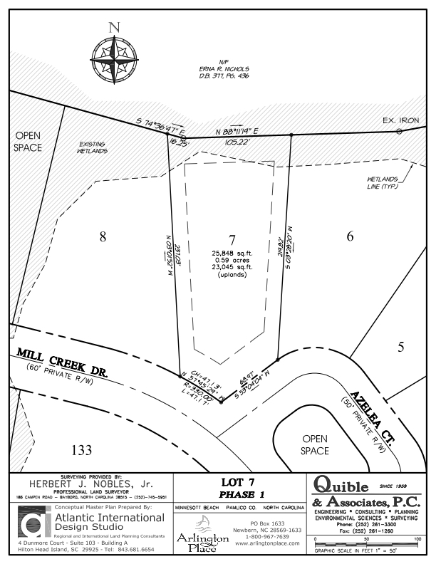 Arlington Place Homesite 7 property plat map image.
