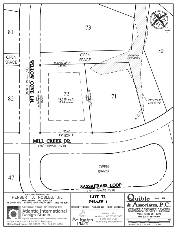 Arlington Place Homesite 72 property plat map image.