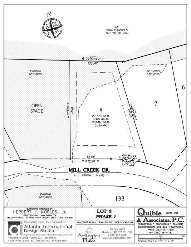 Arlington Place Homesite 8 property plat map image.