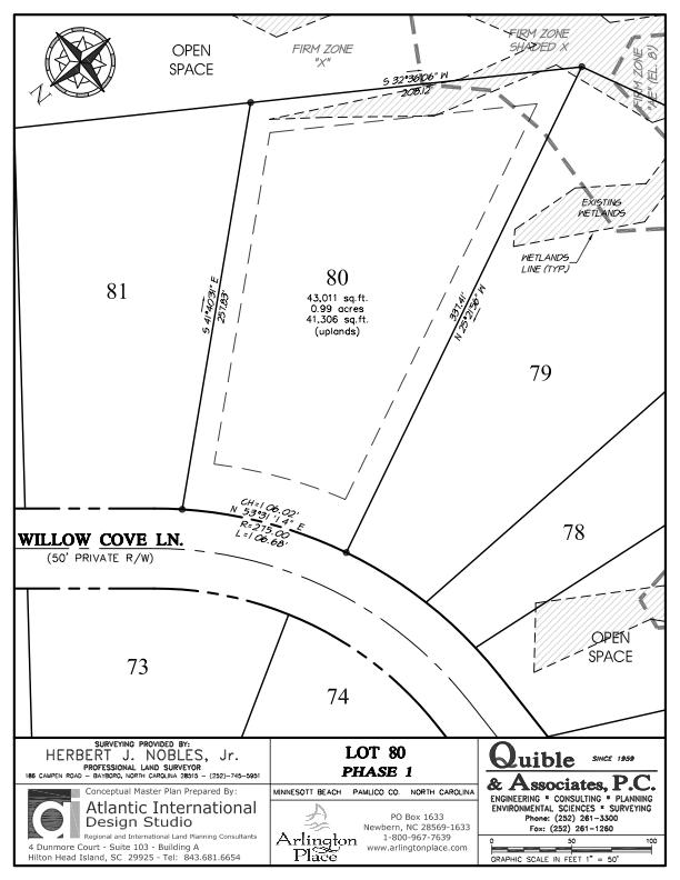 Arlington Place Homesite 80 property plat map image.