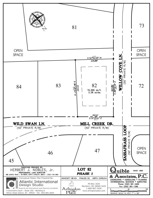 Arlington Place Homesite 82 property plat map image.