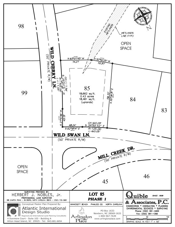 Arlington Place Homesite 85 property plat map image.