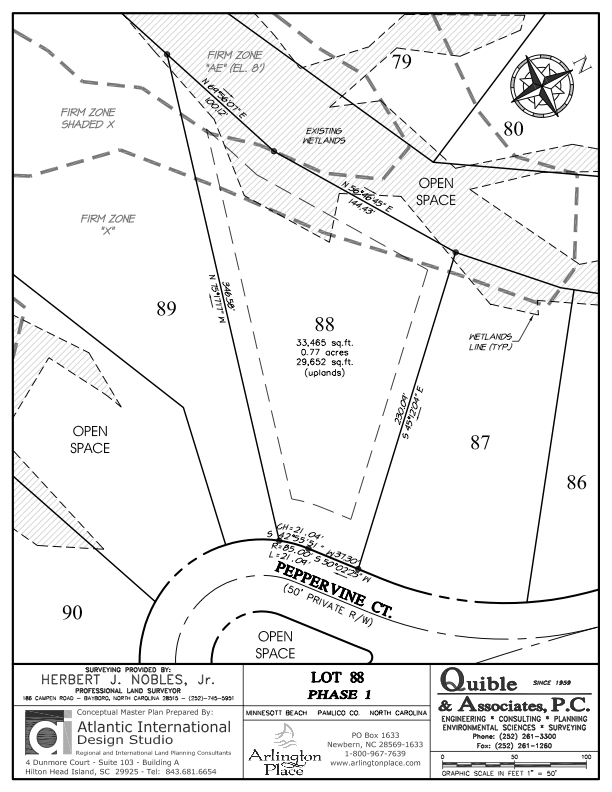 Arlington Place Homesite 88 property plat map image.