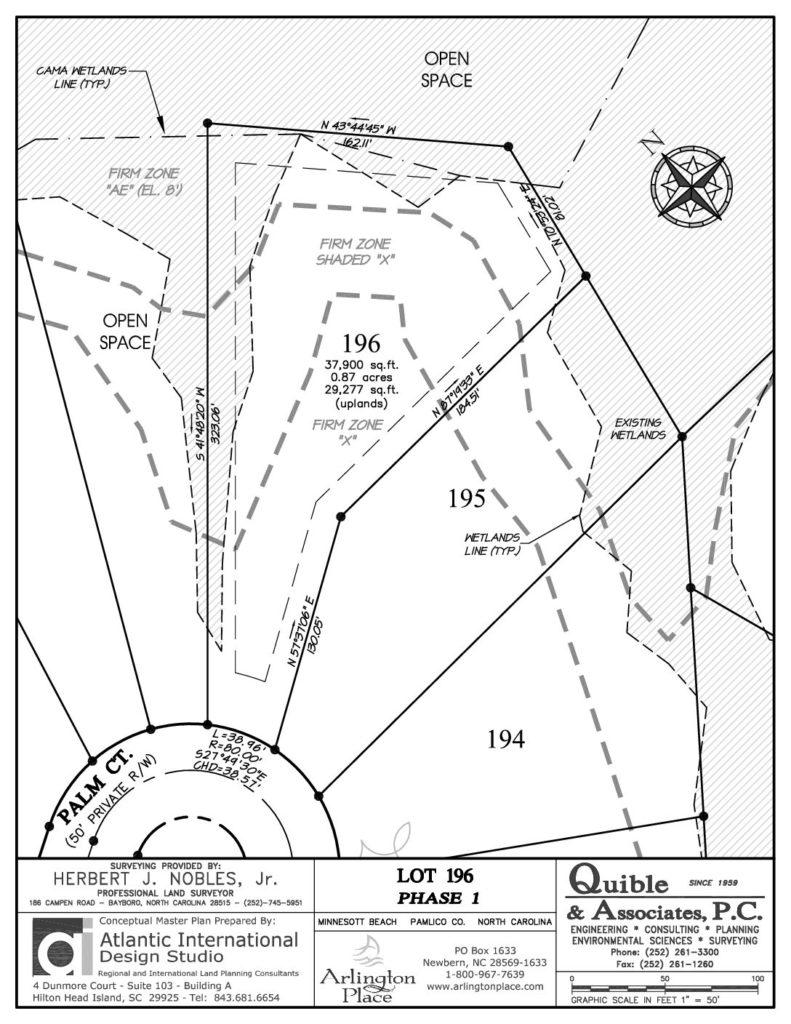 Arlington Place Homesite 196 property plat map pdf.