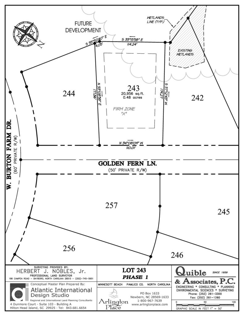 Arlington Place Homesite 243 property plat map pdf.