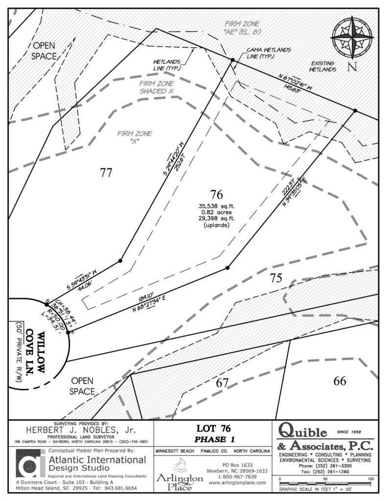 Arlington Place Homesite 76 property plat map pdf.